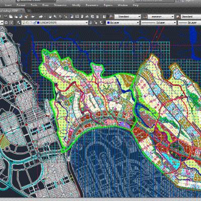 نقشه اتوکد شبکه بندی شهرسازی