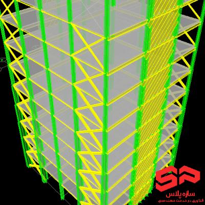 فایل Etabs مدلسازی دیواربرشی فولادی