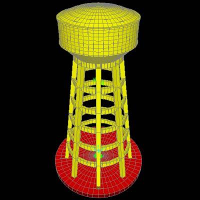 مخزن آب هوایی 1000 متر مکعبی در ارتفاع 30 متری