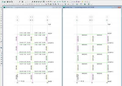 خروجی مقادیر میلگرد بر حسب سانتی متر در نرم افزار ETABS