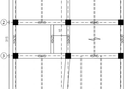 پلان پوشش سقف در خروجی نقشه سازه
