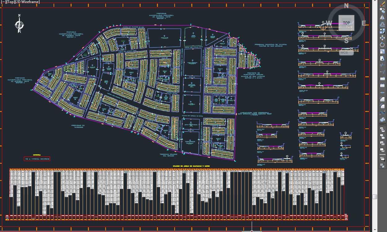 پیشنمایش - اتوکد محله بندی خارجی با جزئیات