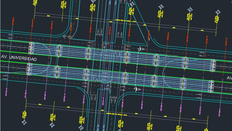 نقشه سازه پل هوایی روگذر