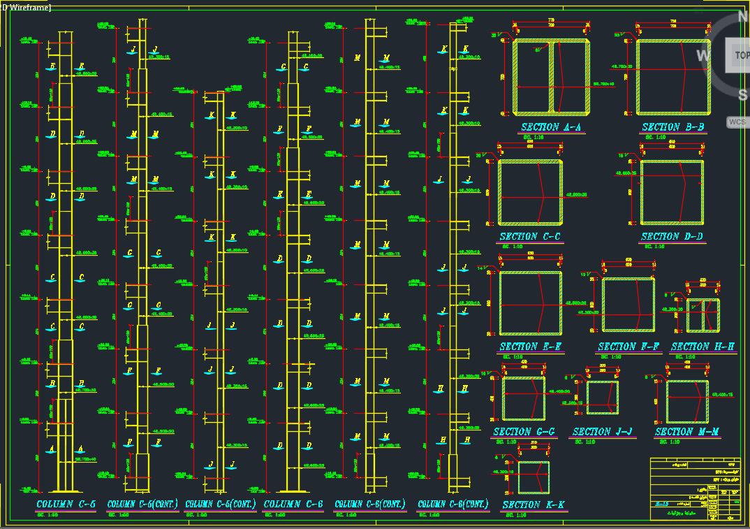 نقشه سازه برج 21 طبقه تهران