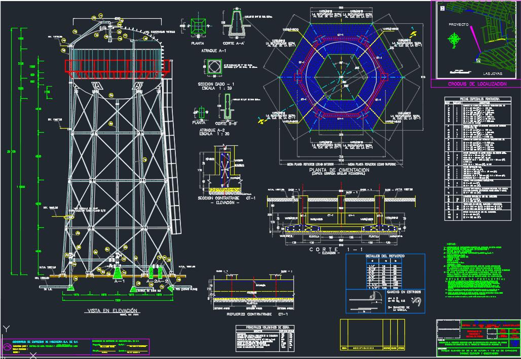 سازه مخزن آب هوایی فولادی
