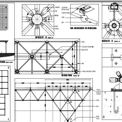فایل اتوکد دیتیلهای سازه فضاکار