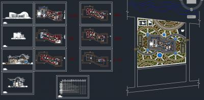 پیشنمایش نقشه اتوکد - پروژه طرح نهایی هتل چهار ستاره، فایل اتوکد و word با رندرها
