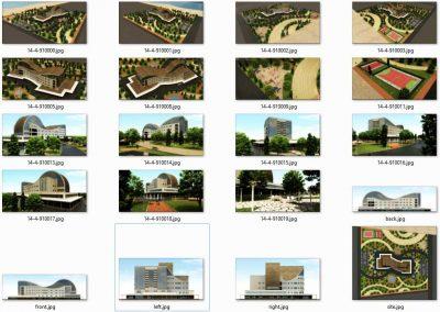 پیشنمایش رندر - پروژه طرح نهایی هتل چهار ستاره، فایل اتوکد و word با رندرها