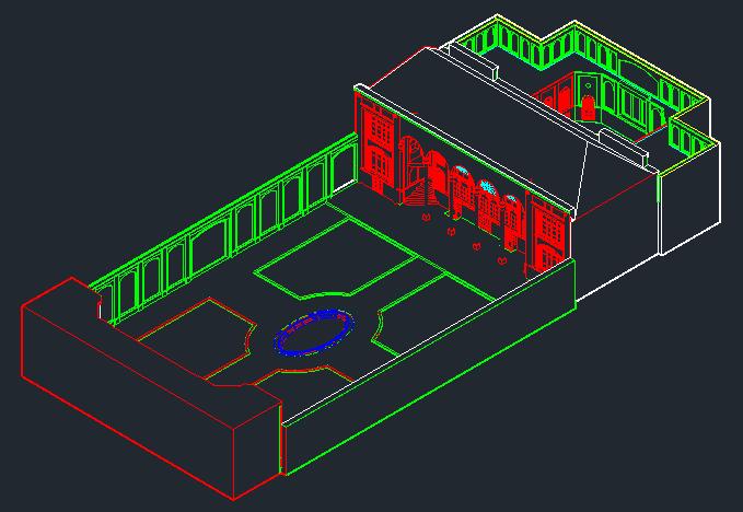 3D خانه بهنام تبریز | فایل اتوکد سه بعدی