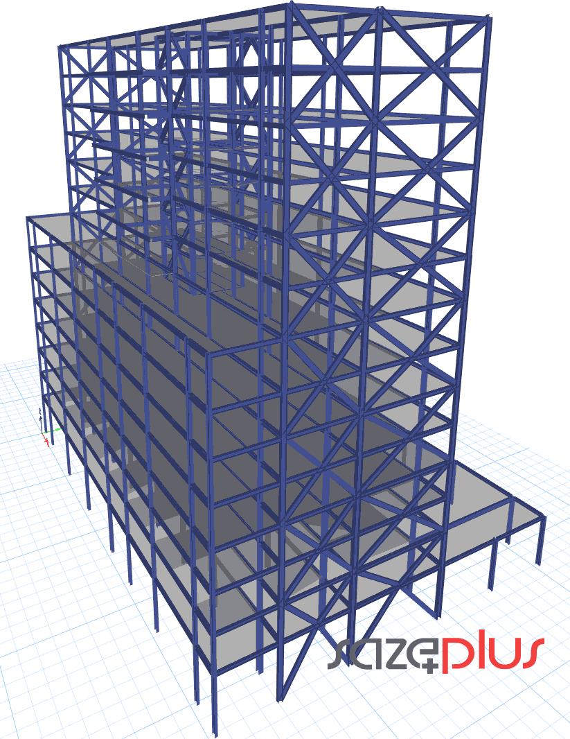 طراحی فولادی ایتبس 18