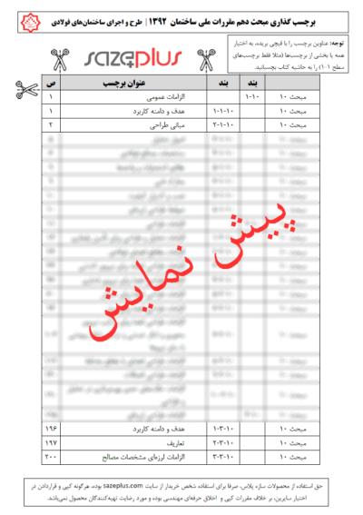 برچسب-گذاری-مبحث-دهم-مقررات-ملی-ساختمان-۱۳۹۲-طرح-و-اجرای-ساختمان-های-فولادی