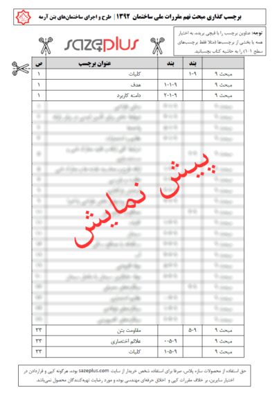 برچسب-گذاری-مبحث-نهم-مقررات-ملی-ساختمان-۱۳۹۲-طرح-و-اجرای-ساختمان-های-بتن-آرمه