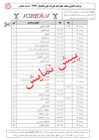 برچسب-گذاری-مبحث-چهاردهم-مقررات-ملی-ساختمان-۱۳۹۶-تاسیسات-مکانیکی