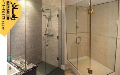 دکوراسیونی از حمام شیشه ای مدرن