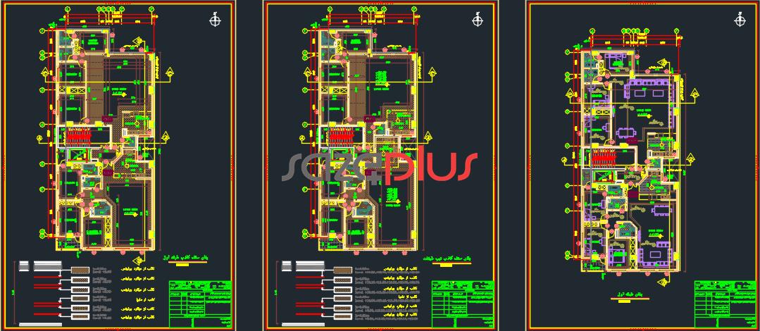 نقشه معماری کامل فاز ۲ مورد تایید