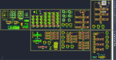 پیشنمایش اتوکد ایبوک تهیه نقشههای اجرایی سازههای بتنی مدلسازی شده در نرمافزار ETABS