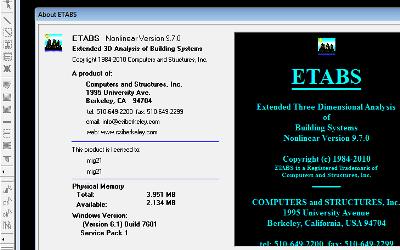 ایتبس پرتابل ETABS 9.7 بدون نیاز به نصب