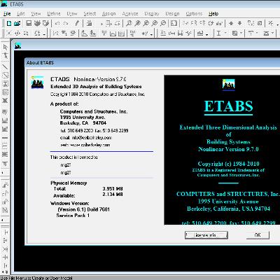 اتبس پرتابل ETABS 9.7 بدون نیاز به نصب