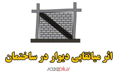 پ۶-۲- درنظرگیری اثر میانقابی دیوار در ساختمان