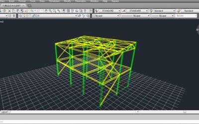 نحوه درج مدل ۳ بعدی فایل ETABS در نقشه های سازهای