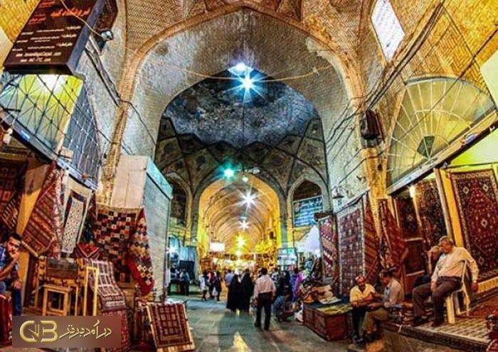 معماری بازار خان یزد