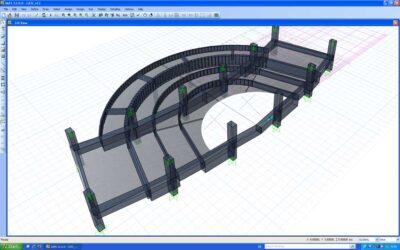فایل SAFE مدلسازی سقف قوسی شعاعی
